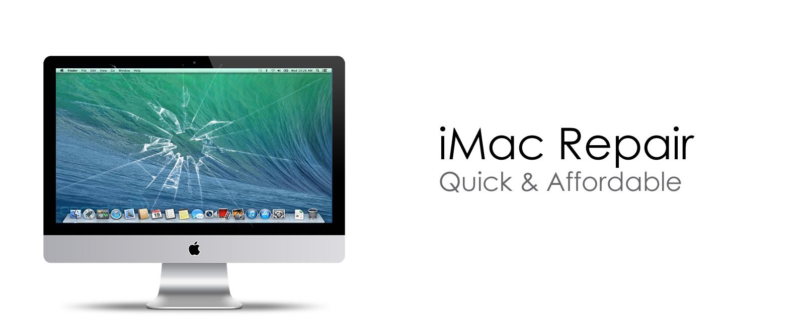 Repair broken screen iMac