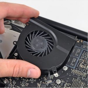 Replace laptop cooling fan