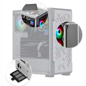 boitier Corsair iCUE 220T RGB blanc